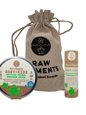 Raw Elements Baby and Kiddie Sunscreen Tin and Stick Set