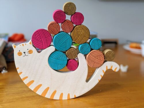 Meow Balancing Wooden Game photo review