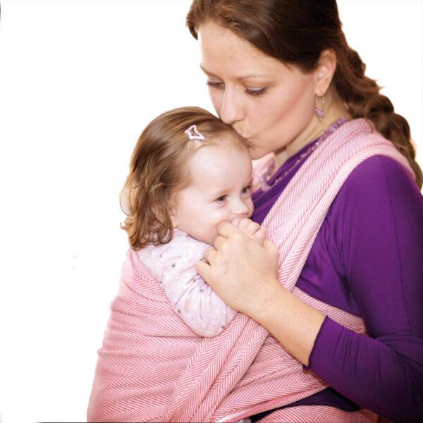 Didymos Lisca Raspberry Woven Baby Wrap Organic Cotton