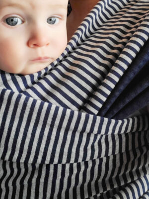 Didymos Navy Stripes Jersey Hybrid Wrap