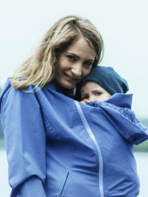 Mamalila 4-in-1 Babywearing Rain Jacket Vintage Blue