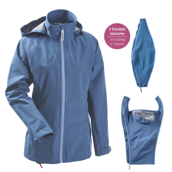 Mamalila 4-in-1 Babywearing Rain Jacket Vintage Blue 5
