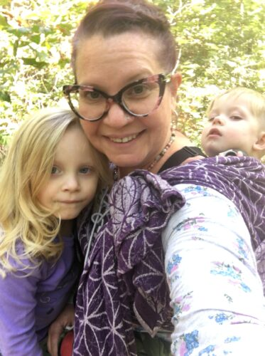 Flower of Life Amethyst Hemp Woven Wrap photo review