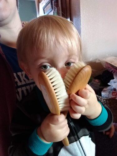 Natural-Bristle Baby & Child Hair Brush photo review