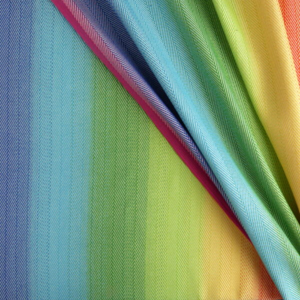DIDYMOS Lisca White Rainbow Woven Baby Wrap