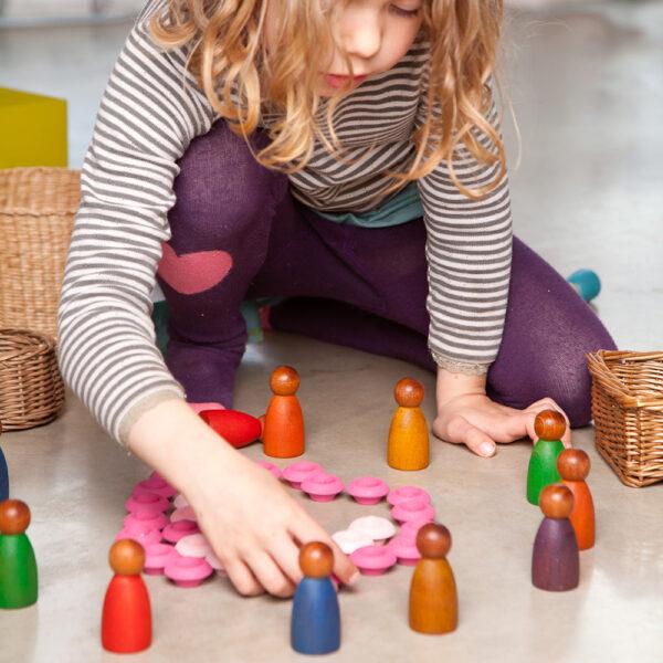 Grapat Wooden Nins Set of 3 Colour Set