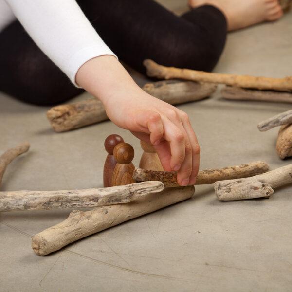 Grapat Wooden Nins Set of 3 Warm