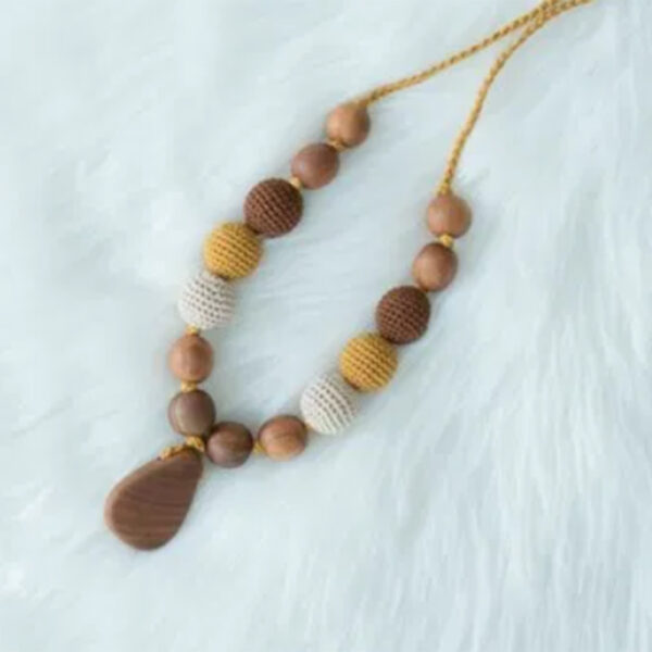 Kangaroo Care Wooden Necklace Drop Pendant 2