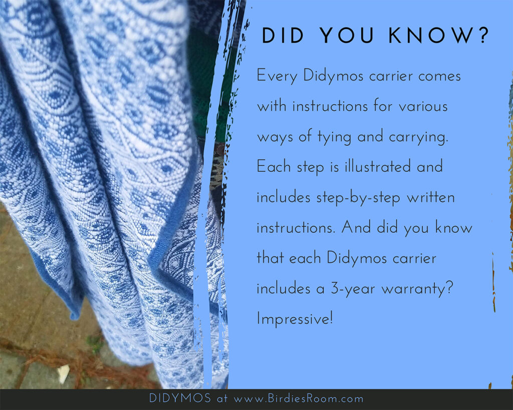 The Benefits of Babywearing and Didymos Woven Baby Wraps