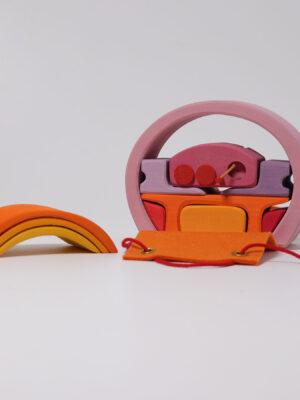 Grimm's Mobile House Pink Orange