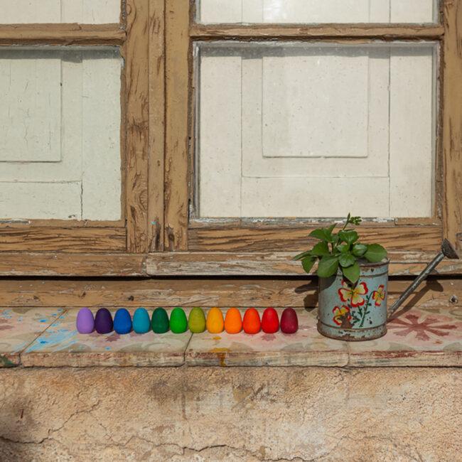 Mandala Rainbow Eggs by Grapat