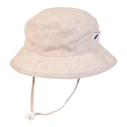 Puffin Gear Summer Day Linen Camp Hat Blue Check