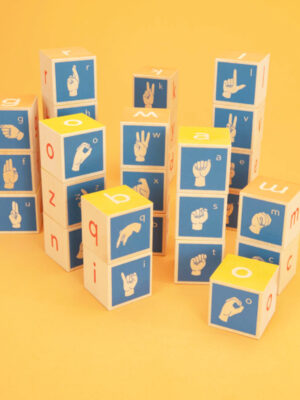 Uncle Goose American Sign Language Wooden Blocks 2