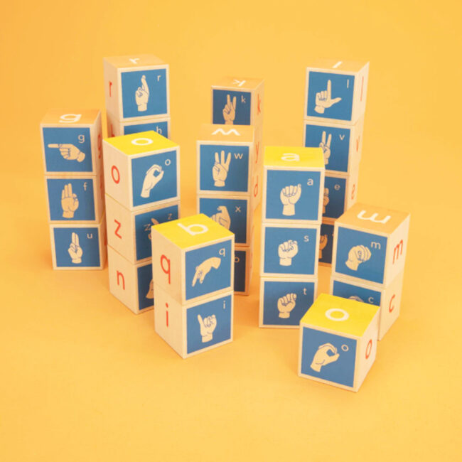 Uncle Goose American Sign Language Wooden Blocks 2