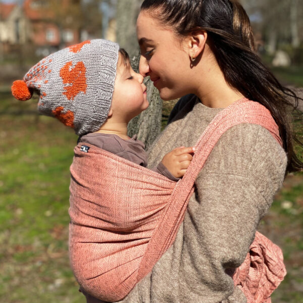 DIDYMOS Prima Blush Linen Woven Baby Wrap