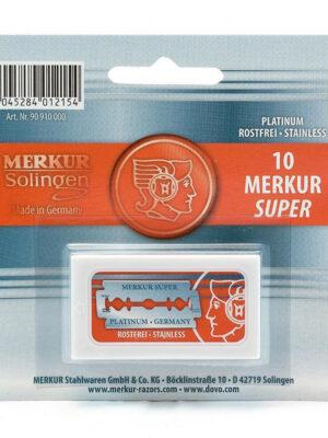 Merkur Super Platinum Double Edge Safety Razor Blades 10 pack