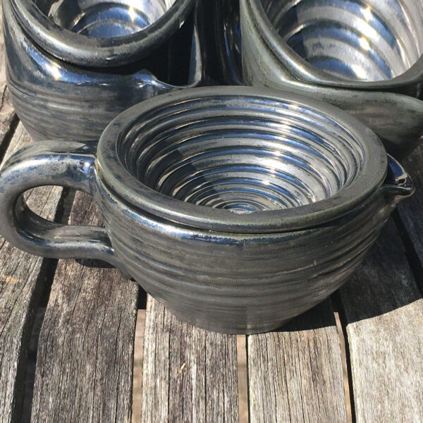 Shaving Scuttle Hand-Made Antique Pewter