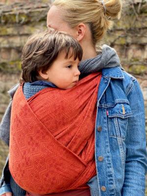 Didymos 1975 OS Copper Half Line Woven Baby Wrap