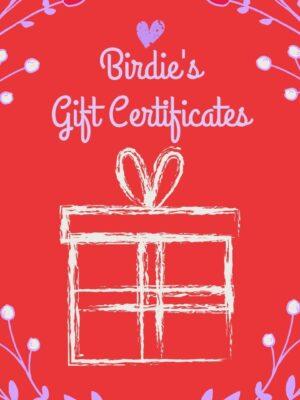 Birdie's Gift Certificates