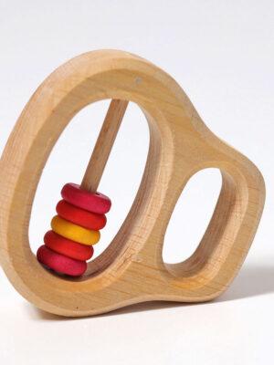 Klipp Klapp Disc Wooden Rattle by Grimm 7