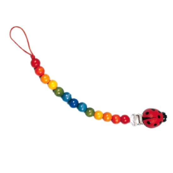 Ladybug Toy Pacifier Chain