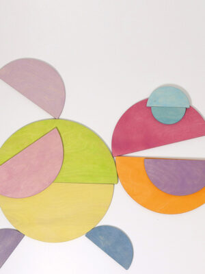 Semi Circle Pastel Wooden Boards by Grimm 2
