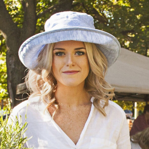 Sun Protection Classic Hat Linen Chambray Natural