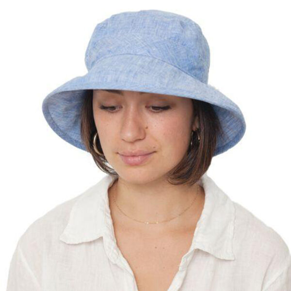 Puffin Gear Linen Chambray UPF50 Sun Protection Bowler Hat