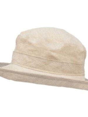Puffin Gear Summer Breeze Linen Sun Protection Bowler Hat-Natura