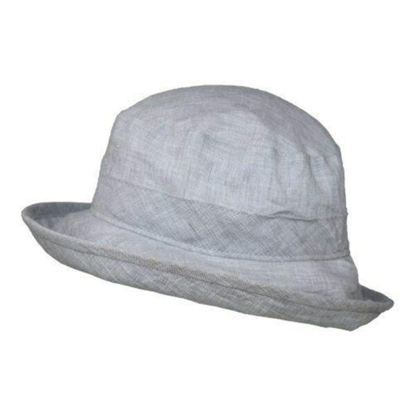 Puffin Gear Linen Chambray UPF50 Sun Protection Bowler Hat-Made