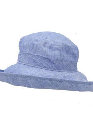 Puffin Gear UPF50 Sun Protection Linen Chambray Wide Brim Classi