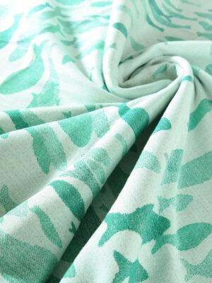 DIDYMOS Swirling Fishies Green Linen Blanket