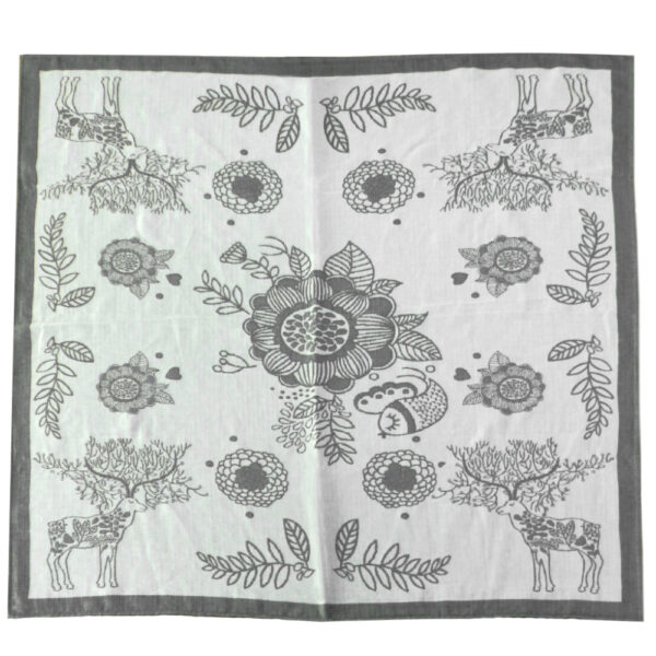 DIDYMOS Magic Forest Doubleweave Blanket Monochrome