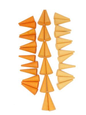 Grapat Mandala Wooden Orange Cones