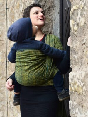 Didymos Prima Pine Green Gold Hemp Woven Baby Wrap